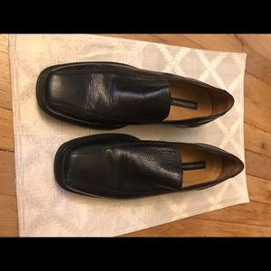Men's black leather loafers 👞